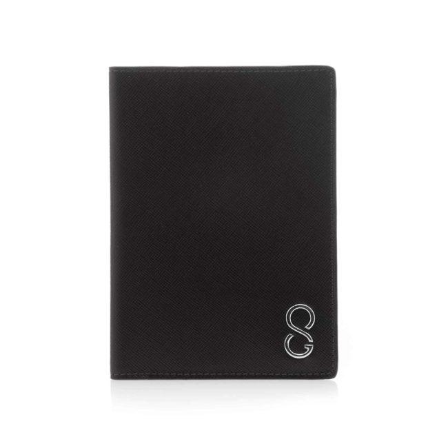 passaporto saffiano nero a